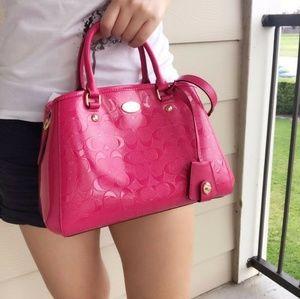 Coach Margot Carryall Leather Pink Satchel Bag